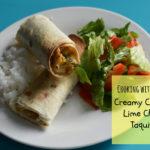 Creamy Cilantro-Lime Chicken Taquitos